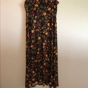 LuLaRoe XL Fall Black background Maxi Skirt